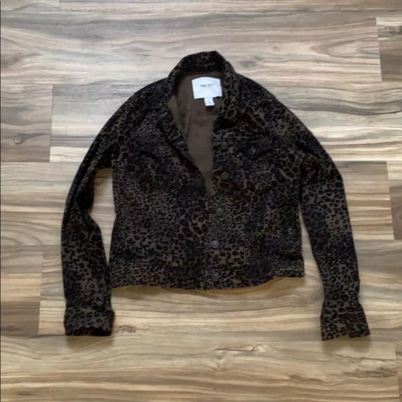 Nine West leopard print Jean jacket